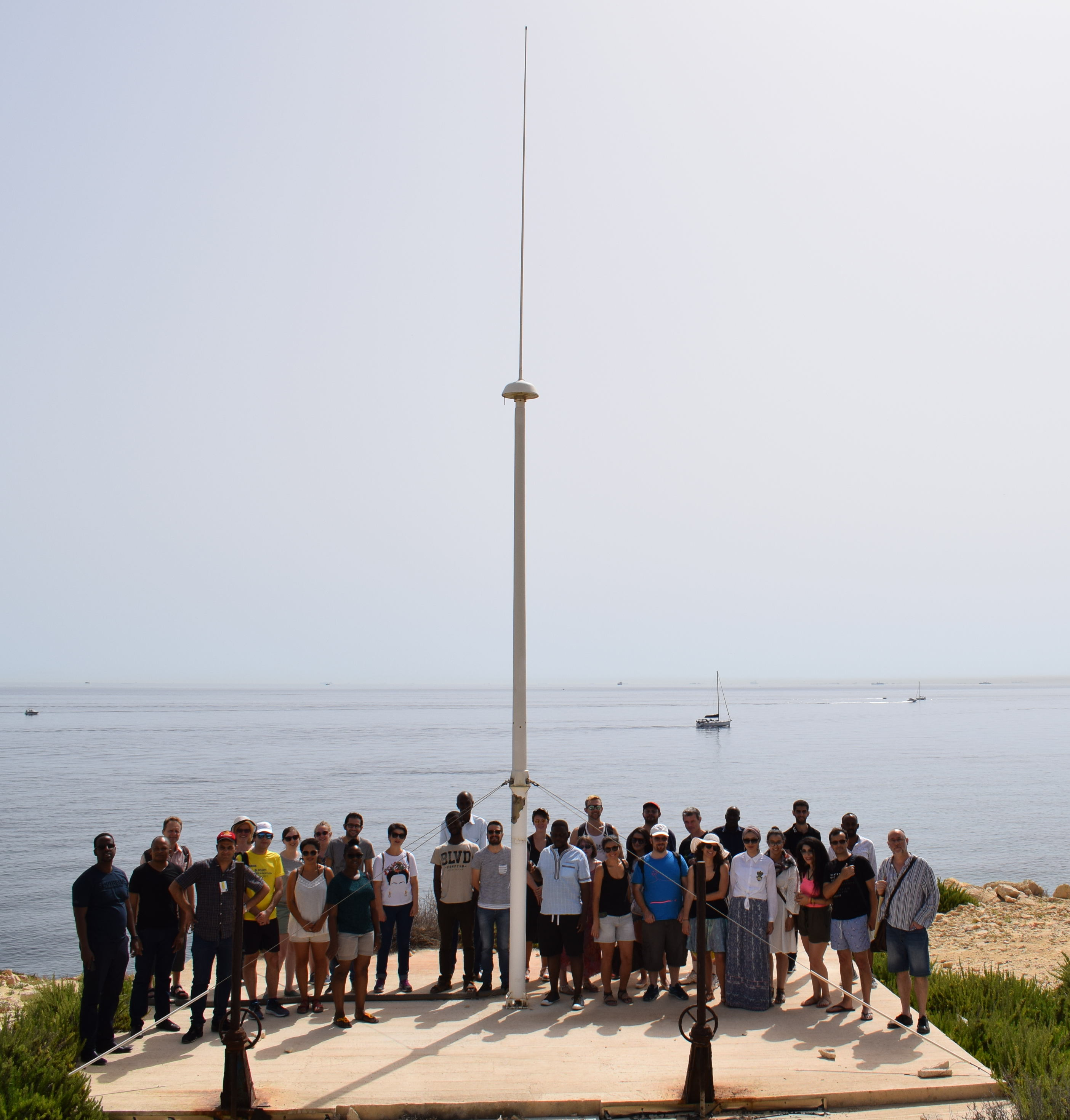 JERICO-NEXT summer school participants visit CALYPSO HF radar site