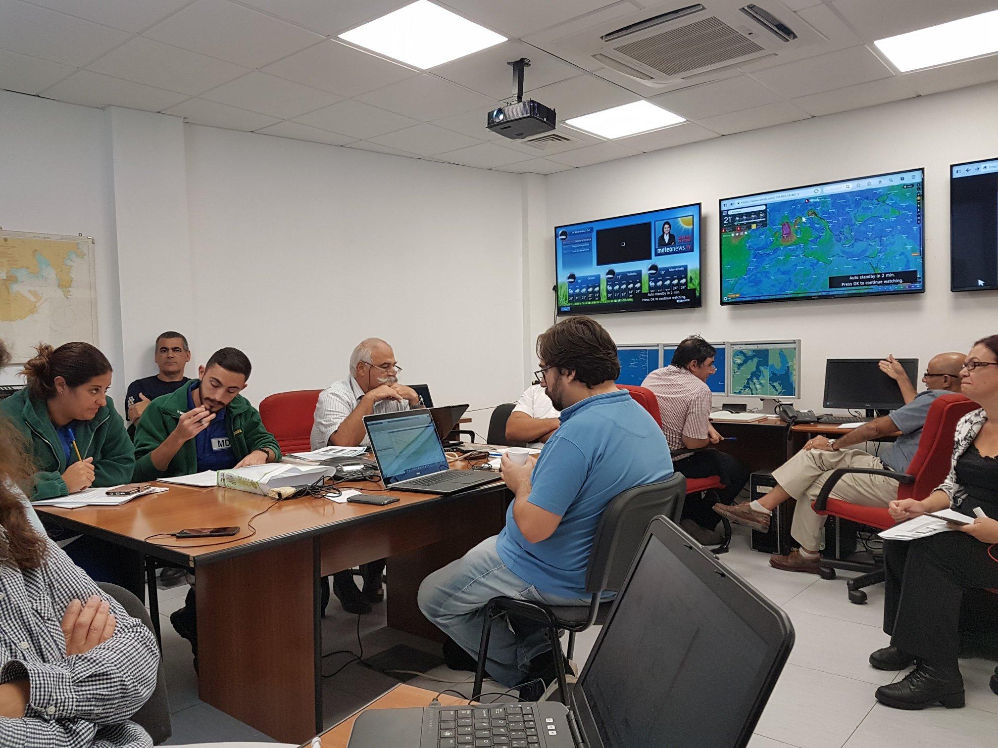 Control Room at Transport Malta premises during Maltex 2018