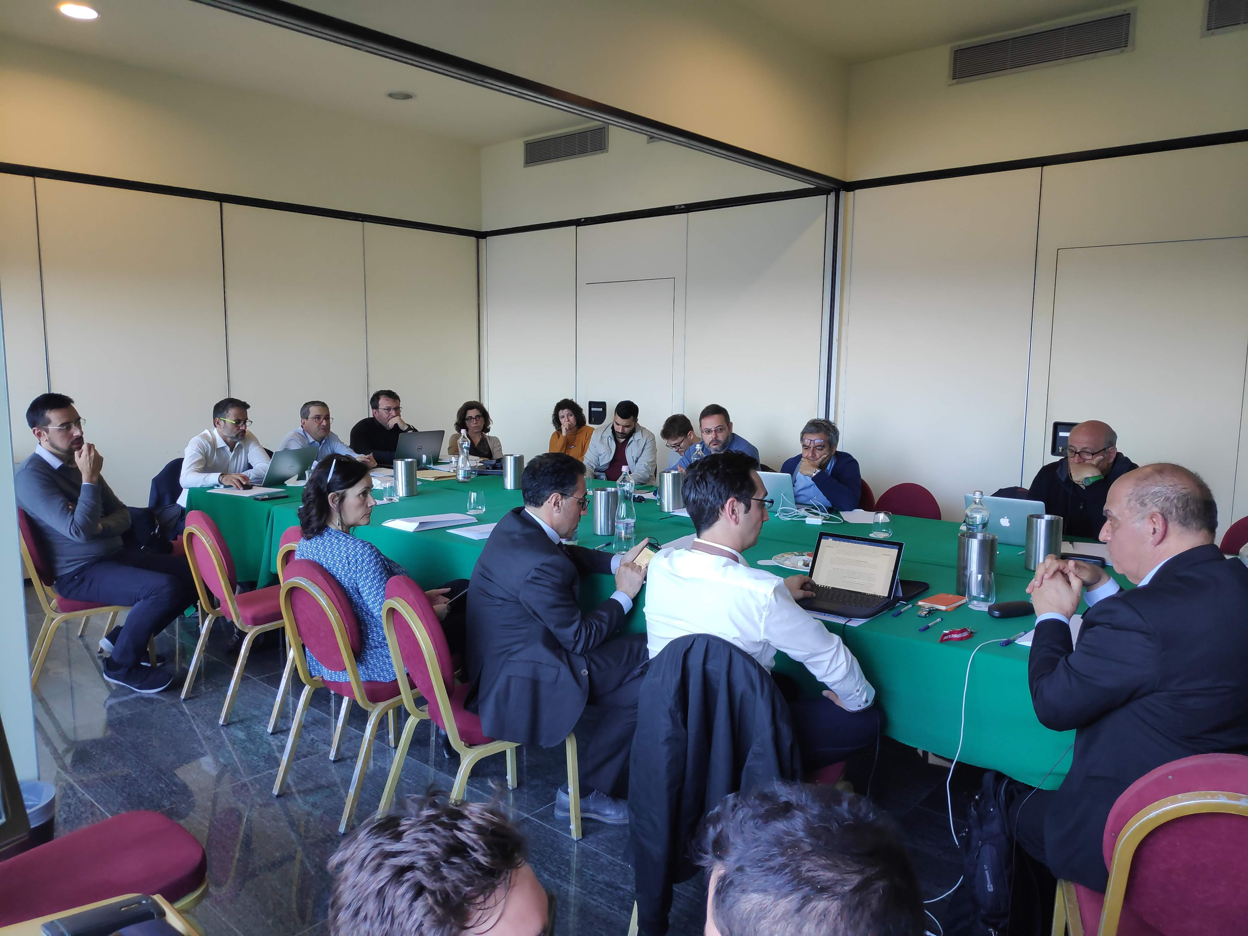 Participants in second progress meeting