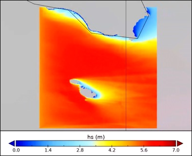 Sea wave heights higher than 7m west of the          Maltese Islands and in the Malta-Sicily Channel